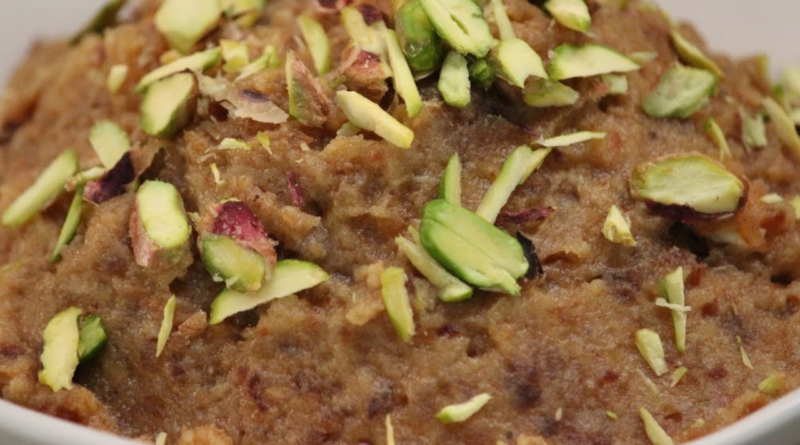 Dates Halwa Recipe- Winter's Gift