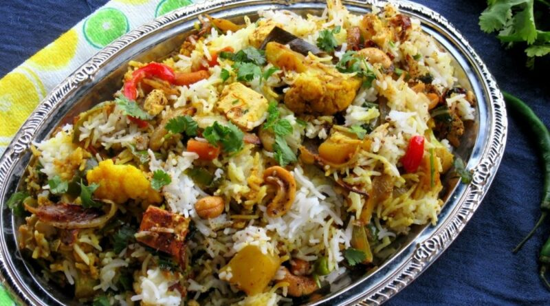 vegetable Biryani- Pakistani Biryani